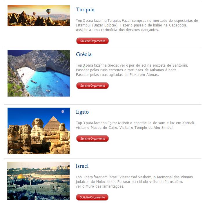 Turquia-Grécia-Egito-Israel